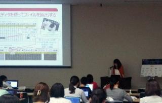Mari at CTF for Girls Workshop