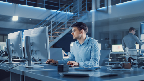 Male-Work-Desk-Computer